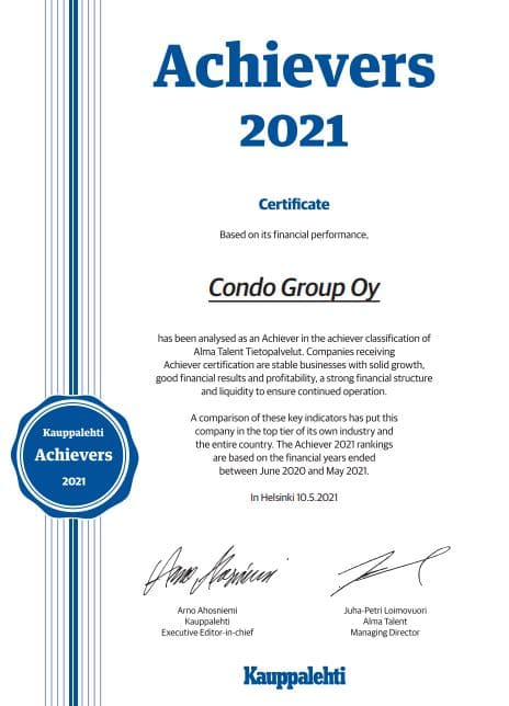 Condo Group is once again praised for its success